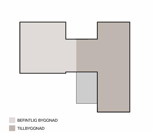 Tillbyggnad S, Diagram byggnad