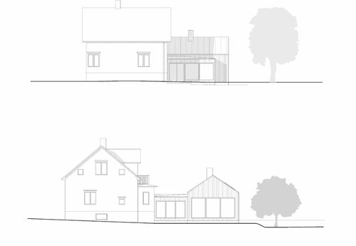 Tillbyggnad S, Fasader