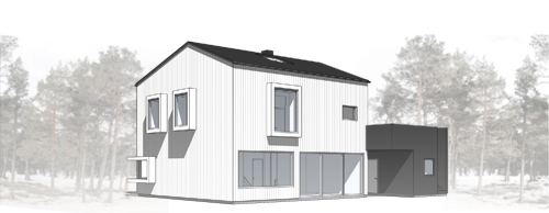 Villa TE, Fågelberget -  exteriör