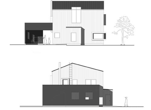 Villa TE, Fågelberget - fasad