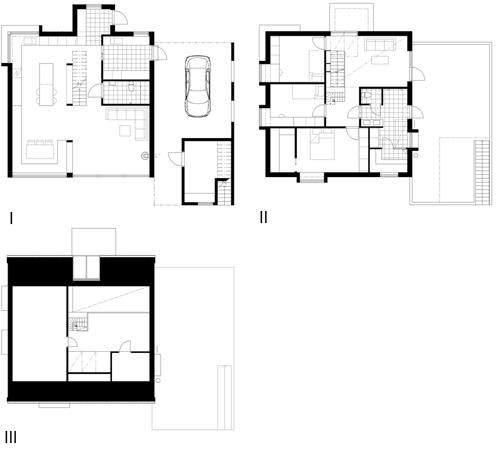 Villa TE, Fågelberget - Situationsplaner