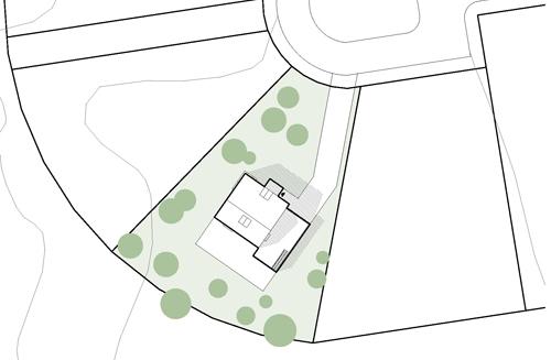 Villa TE, Fågelberget - Situationsplan