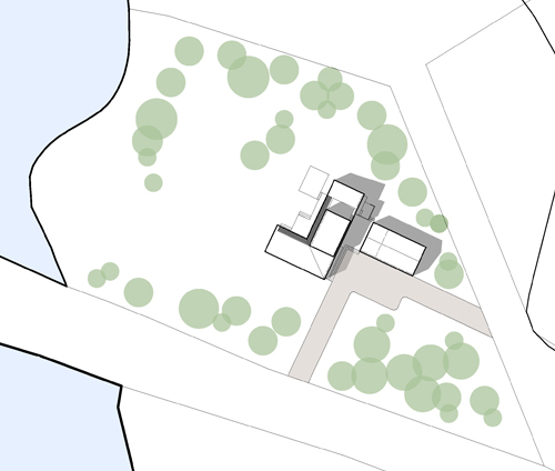 Villa Greta, Situationsplan