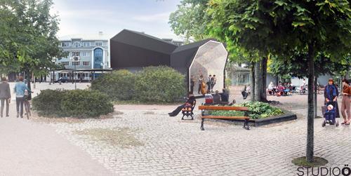 Upprustning i Mariehamn, Scenen - Illustration
